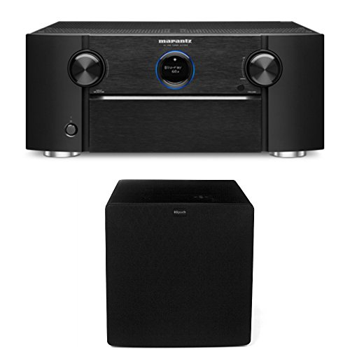 Marantz Preamps - Marantz AV7703 Home Theater Preamp/Processor with 11.2 Channel Processing and Dolby Atmos with Klipsch SW-311 Subwoofer