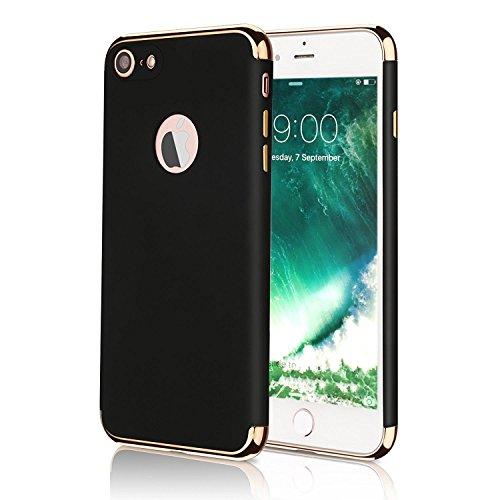 VAPIAO 360 grados funda con la línea Protector duro funda delgado para Apple iPhone 7 en Negro
