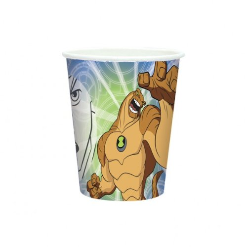 8 Ben 10 Alien Force Birthday Party 9oz Disposable Paper Cups .
