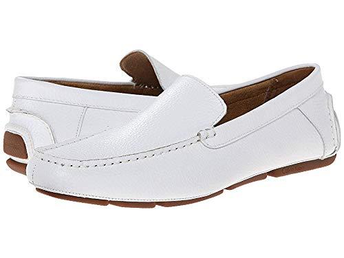 (Calvin Klein Men's Menton White Tumbled Leather Loafer 47.5 (US Men's 13) D)