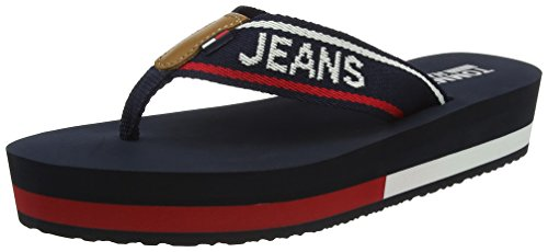 Tommy Jeans Mid Beach Sandal, Chanclas Para Mujer Azul (Tommy Navy 406)