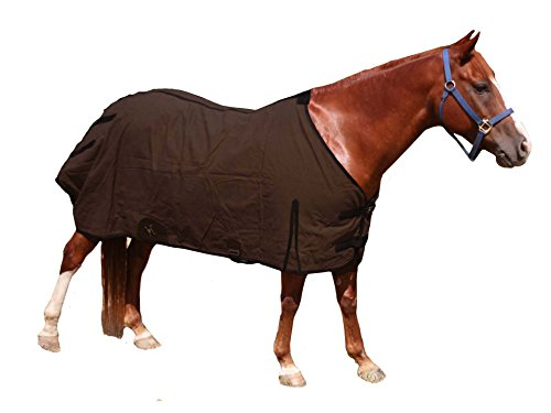 (Derby Originals Wool Water Repellent Duck Canvas Lightweight Winter Turnout Horse Blanket)