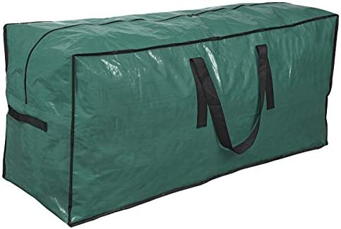 """Primode Christmas Tree Storage Bag   Fits Up to 9 Ft. Tall Disassembled Tree I 65"""" x 15"""" x 30"""" Holiday Tree Storage Case   Protective Zippered Artificial Xmas Tree Bag with Handles (Green)"""
