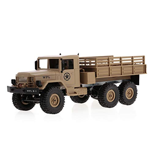 Lastnight 2.4G 2CH 6WD RC Remote Control Car Rock Crawler Off-Road Military Light Truck Toy Yellow