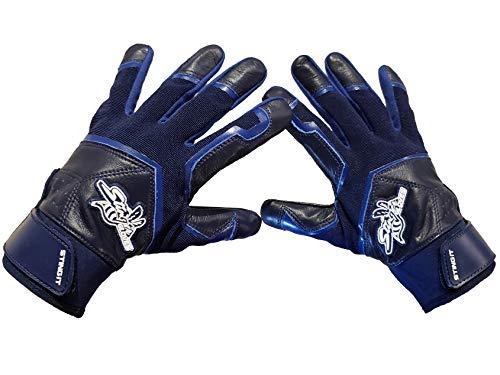 Stinger Navy Blue Color Crush All Navy Blue Batting Gloves for Baseball & Softball (Adult Medium)