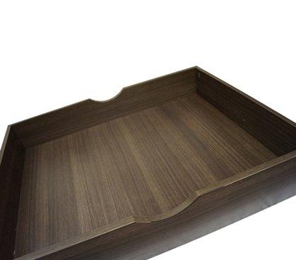 The Storage MAX - Underbed Wooden Organizer With Wheels - Black Oak Dark Wood