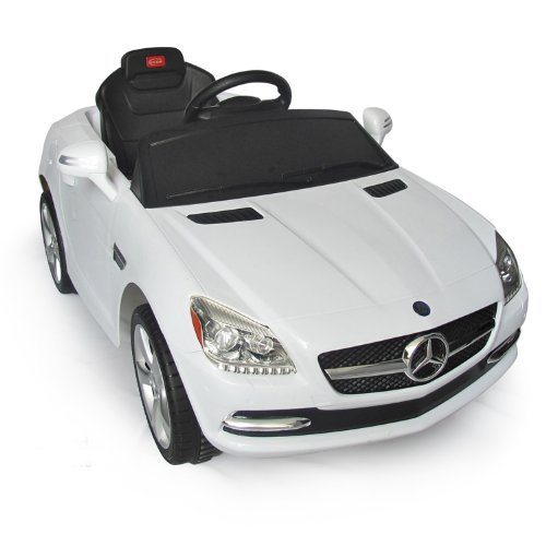 Mercedes-Benz SLK Kids 6v Electric Ride On Toy Car w/ Parent Remote Control - White (Baby Electric Car compare prices)