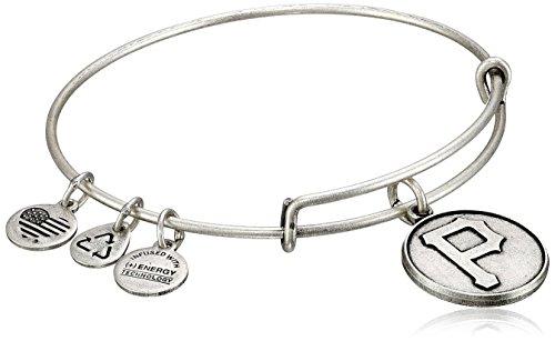 (Alex and Ani Pittsburgh Pirates Cap Logo Expandable Rafaelian Silver Bangle Bracelet)