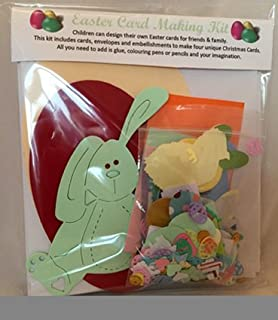 Easter Card Making Kit Makes 6 Cards Easter Craft Kit Amazon Co