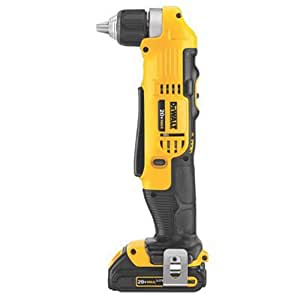 DEWALT DCD740C1 20-Volt MAX Lithium-Ion Compact Right Angle Drill Kit, 1.5 Ah