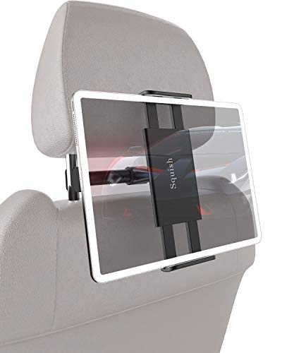 Squish Car Headrest Mount Holder, Universal Car Headrest Mount Car Backseat Tablet Holder for iPad Pro/Air/Mini, Kindle,Tablets Nintendo Switch Smartphones, Compatible with 4.5 to 11 Devices, 360°