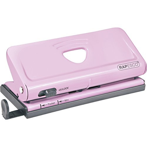 Rapesco Adjustable 6-Hole Organizer / Diary Punch - Candy Pink (1322)