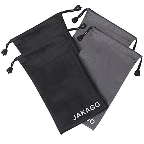 Jakago 4X Universal fabric Pouch 4.33 x 7.09 inch Portable Waterproof bag Case for Iphone 6 7 Plus 6S & Samsung Galaxy J7 S5 S7 S8 & LG G8 & earphone & power bank & Glasses & Jewelry & camera lens