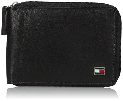 Tommy Hilfiger Men's Oxford Ziparound Wallet,Black,