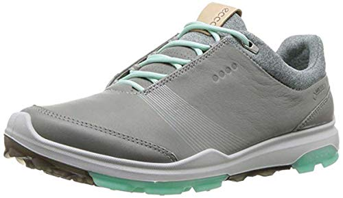 ECCO Women's Biom Hybrid 3 Gore-Tex Golf Shoe, Wild Dove/Emerald Yak Leather, 7 M -