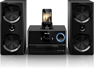Philips DCD3020/51 Micro set 120W Negro sistema de audio para el hogar - Microcadena (Micro set, Negro, iPad, iPhone, iPod, Corriente alterna, 3,5 mm, CD, CD-R, CD-RW, DVD, DVD+R, DVD+RW, DVD-R, DVD-RW)