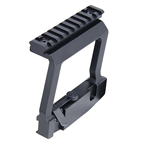 CCOP Tactical AK Picatinny Rail Side Scope Mount, Black