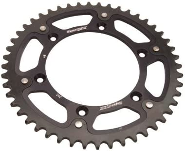 Supersprox Stealth Rear Sprocket 48 Tooth Black for Yamaha WR250R 2008-2017