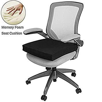 Big Hippo Chair Pads Square Cotton Chair Cushion Soft Thicken Seat Pads Cushion Pillow for Office, Home or Car Sitting (Gray)