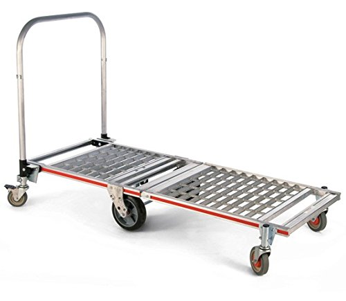 Magline-MT1TA-6-Wheel-Foldable-Merchandising-Platform-Truck-with-Extension-39-Handle-and-Balloon-Cushion-Wheel-1500-lbs-Capacity-23-14-Deck-Width
