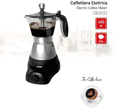 Hoomei Anthis Informatica - Cafetera Moka eléctrica 400 W para 1 2 ...