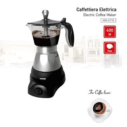 Hoomei Anthis Informatica - Cafetera Moka eléctrica 400 W para 1 2 ...