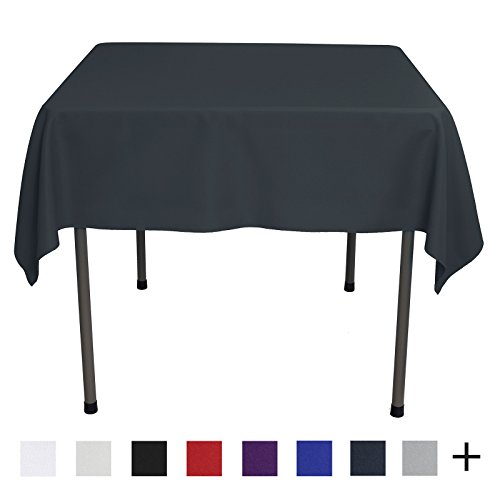 Remedios 54-inch Square Polyester Tablecloth Table Cover - Wedding Restaurant Party Banquet Decoration, Dark Gray