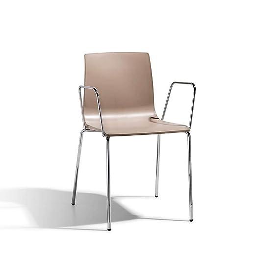 Scab Set 2 Design Alice sillón con Brazos Patas cromadas y ...