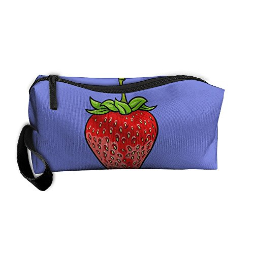 Portable Make-up Receive Bag Strawberry Travel&home Storage Bag Zipper Organization Space Saver Canvas Buggy -