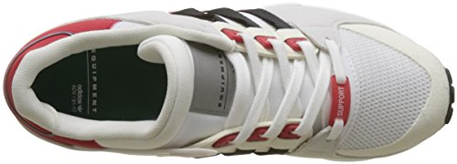 adidas Support Black Scarpe Scarlet EQT Core Footwear White Basse Bianco Uomo da RF Ginnastica rCwrS4yqp5