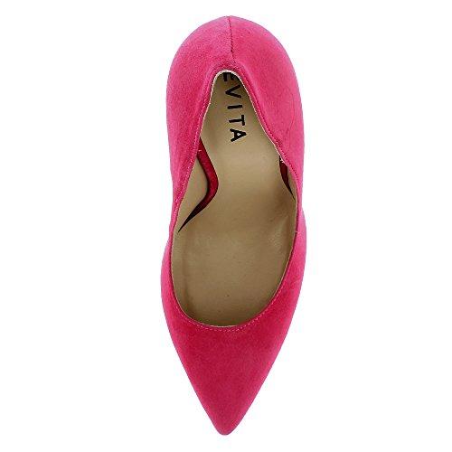 Evita Scarpe Mia Damen Pumps Rauleder Pink