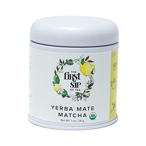 (The Spice Hut USDA Certified Organic Matcha Yerba Mate Tea Powder, Pure 1 oz)