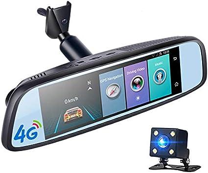 Espejo retrovisor de coche IPS 4G de 8 pulgadas DVR ADAS GPS ...