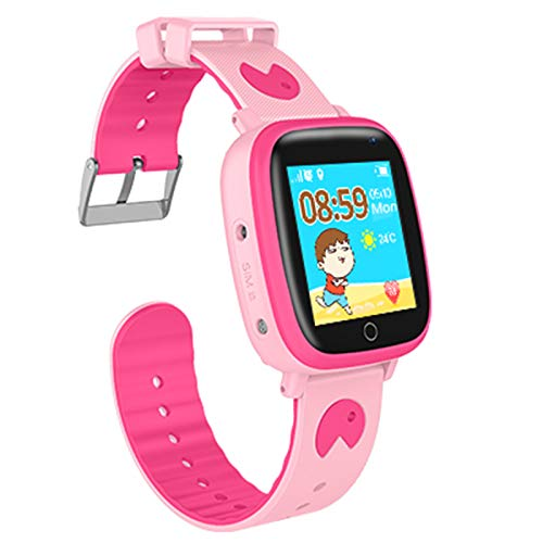 Kids Waterproof Smartwatches Phone, Children Tracker Phone with WiFi GPS LBS Positioning Locator Anti-lost SOS Call Wristwatch with Call Voice Chat Pedometer Alarm Clock for Boys Grils (Pink) by Beacon Pet (Image #9)