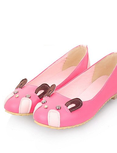rojo mujer uk5 beige talón Beige tipo Redonda Casual plano Mocasín cn38 gris 5 Flats us7 PDX 5 de zapatos de eu38 Punta rosa gpwxqftO