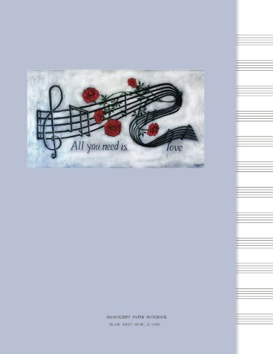 Manuscript Paper Notebook: Blank Sheet Music, Painting Music, Marble Grey words Suzanne Butler