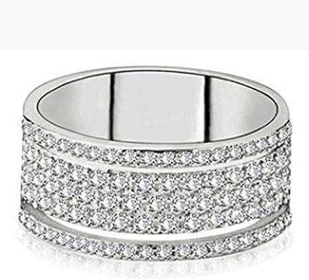 Bridal Wedding Bands Decorative Bands Titanium Polished with CZ Ring Size 5