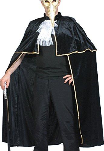 Unisex Masquerade Highwayman Fancy Dress Party Costume Venetian Black Cape (Highwayman Costume)