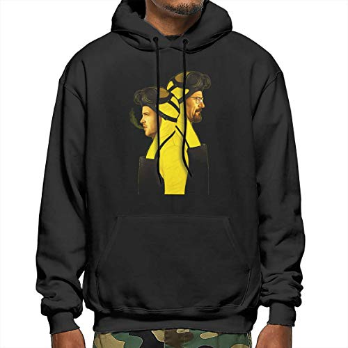Walter White And Jesse Pinkman Halloween (ShannonStone Men Walter-White and Jesse-Pinkman Classical Kangaroo Pocket Sweater with Hat for Outdoor)
