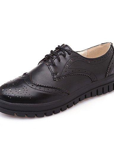 IOLKO njx 2016 Damen Schuhe Low Low Low Ferse rund geschlossen Zehen Oxford Office & Karriere Kleid Casual Schwarz Weiß B01KHBNS6O Schnürhalbschuhe Britisches Temperament 670ed1