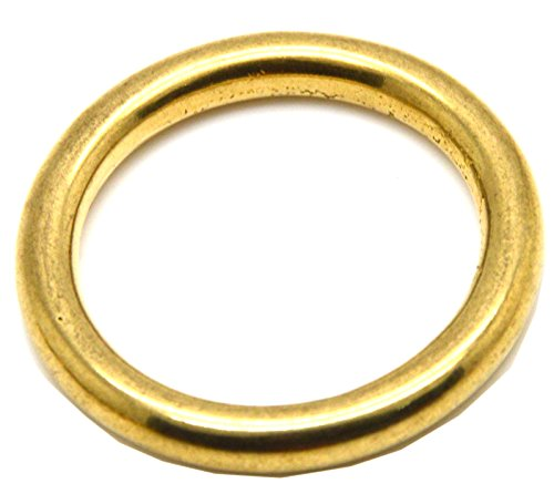 Okones 1/2'' Diameter,Solid Brass o Ring for Webbing Strapping Flat Cords Belting Leathercraft Pack of 10pcs BRA0022 (INSIDES 1/2'')