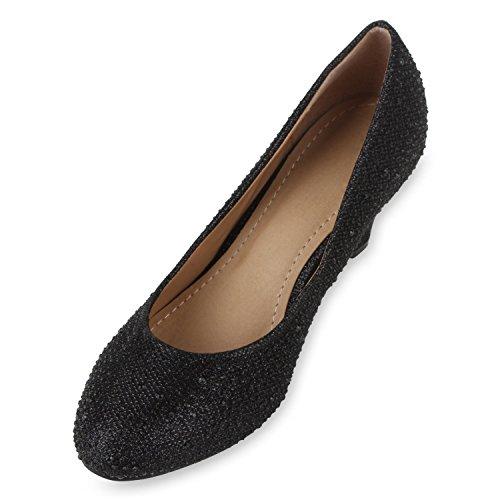 femme Top Stiefelparadies Hi Noir Noir Slippers f5axt1qT