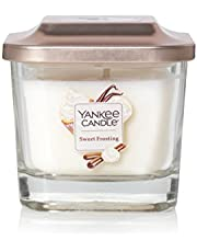 Yankee Candle Company Elevation Collection with Platform Lid, Small | 1-Wick, Sweet Frosting