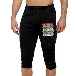 Retro Vintage DUBSTEP Music Men's Print French Terry Jogger Pants Athletic Yoga Workout Pants XXL