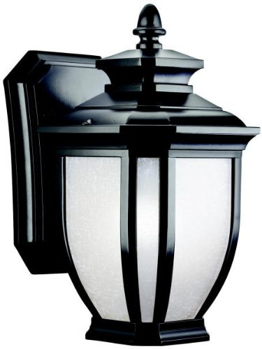 Kichler 9039BK Salisbury Outdoor Wall 1-Light, Black