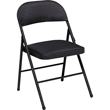 Cosco Fabric 4-Pack Folding Chair, Black