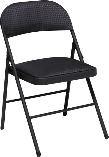 Amazon Cosco Fabric 4 Pack Folding Chair Black Kitchen Dining