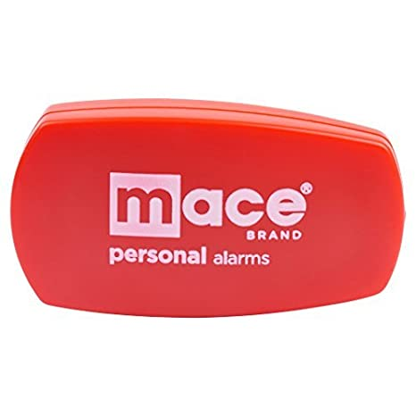 Mace Brand Wearable 130dB Personal Protection Alarm with Emergency Activation Belt Clip Trigger | Black or Red (Black) Clip Model