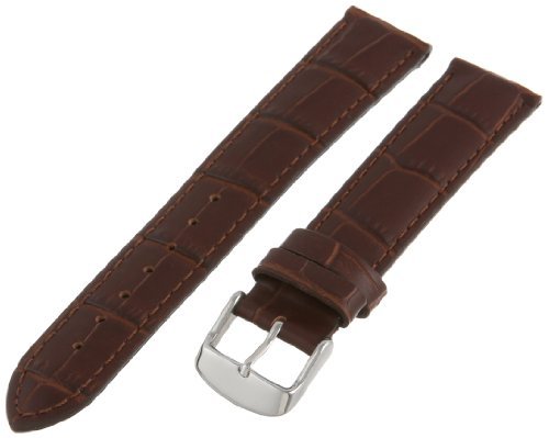 - Hadley-Roma Men's MSM898RB-200 20-mm Brown Alligator Grain Leather Watch Strap