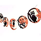 Man in the Moon Halloween Garland - Handmade Vintage - photo reproductions on felt